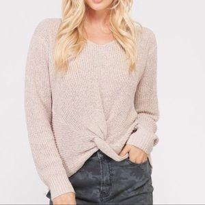 Sweaters - NEW! Twig Twist Tie Knot Front Cozy Knit Sweater
